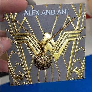 Alex and Ani Wonder Woman Medallion Necklace Gold